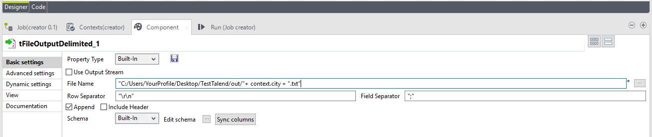 Split csv files tFileOutputDelimited - TalendHowTo