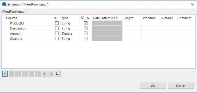 Fix tMap error - tFixedFlowInput schema