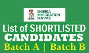 Nigerian immigration service shortlisted candidate