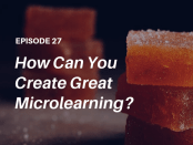"""How do you make microlearning work? Listen to this podcast interview with elearning expert and co-author of the popular new book """"Microlearning Short and Sweet"""" - Dr. Karl Kapp"""