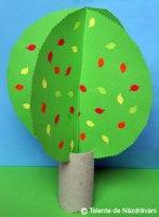 Copacel de toamna din hartie