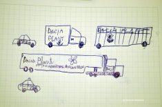 Desene de copii cuminți în timpul prezentării