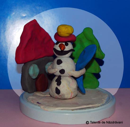 Om de zăpadă - modelaj