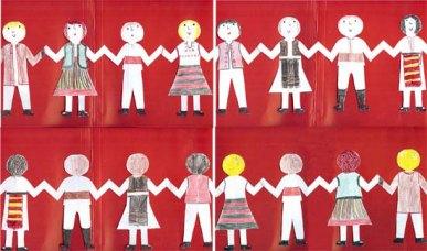 Hora unirii - decupaj din evantai