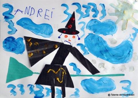 Vrăjitoare de Halloween. Colaj