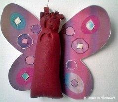 Fluture - pernuță de ace