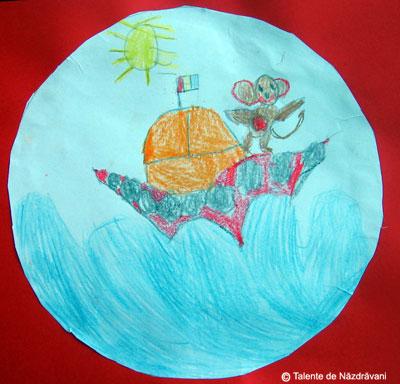 Roxana Maria V., Slobozia, 4 ani O maimutica la bordul unui vaporas