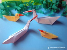 Lebede origami