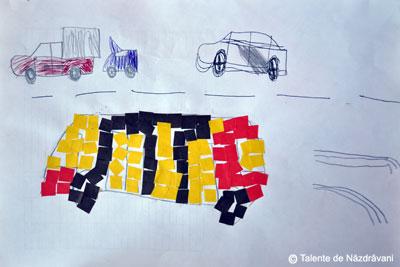 Colaj-mozaic, mijloace de transport