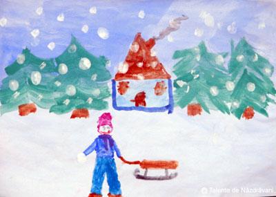 La săniuș - pictură