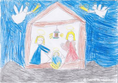 Iris H., Bucuresti, clasa I Căci astăzi s-a născut Hristos/Din maica preacurată.
