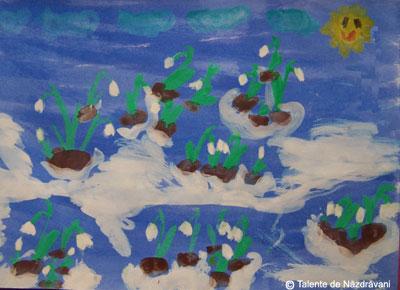 Ghiocei - pictură