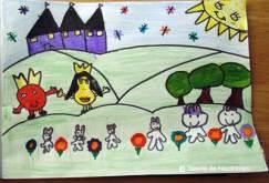 Desen de toamnă: prințul Măr și prințesa Pară