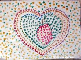 Fructe de toamnă: pictură prin ștampilare
