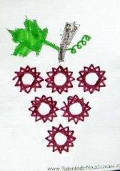 Strugure - cusături - string art