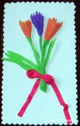 Felicitare de 8 martie cu brândușe