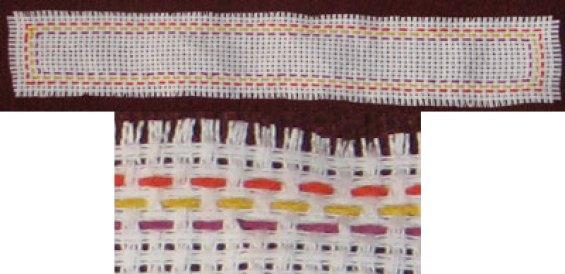 Semne de carte pe etamină cu modele tradiționale