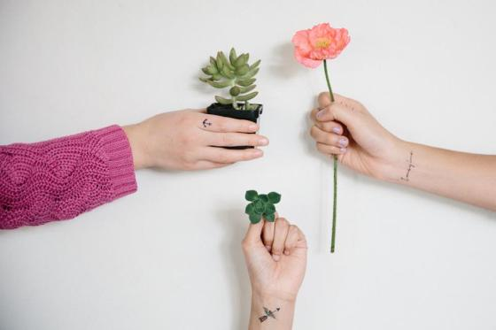 Pepper Ink tattoo éphémères interview talented girls--