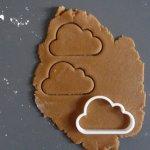 Talented Girls cadeaux de noel cookie cutter nuage