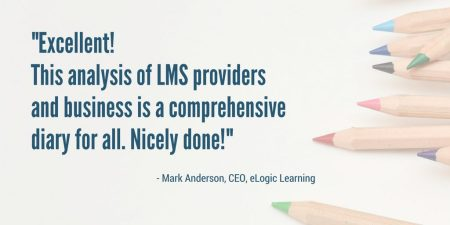 "LMS Almanac is ""Excellent!"" says President of eLogic Learning, endorsing the independent guide for learning tech buyers and sellers (published by Talented Learning)"