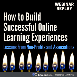 Free on-demand webinar: How to Build Successful Online Learning Experiences - Lessons From Non-Profits and Associations - with independent learning tech analyst John Leh