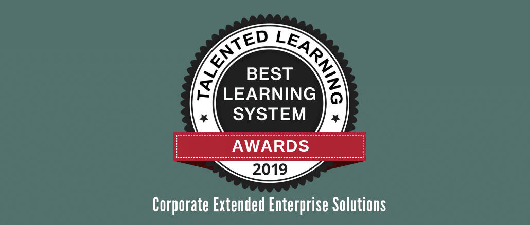 2019 Talented Learning Awards: Corporate Extended Enterprise