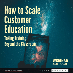 New webinar - How to scale customer education