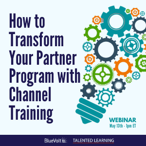 Channel Training webinar - BlueVolt May 2021