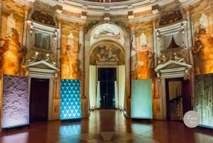 """I pannelli di Studioart dialogono con i magnifici interni della Villa Almerico Capra detta """"La Rotonda"""""""