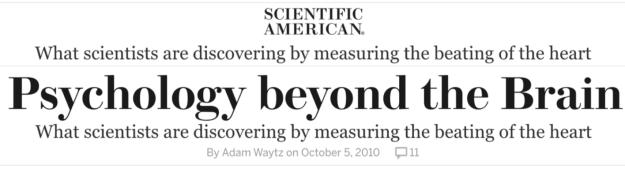 Scientifc American Phsychology beyond the brain Headline