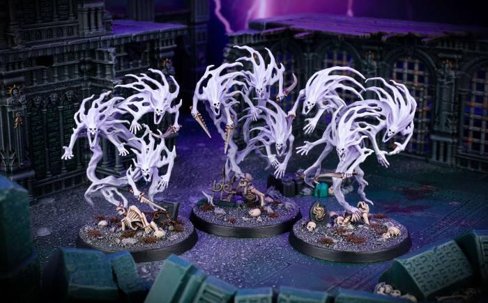 Scenic shot of three Nighthaunt Spirit Hosts