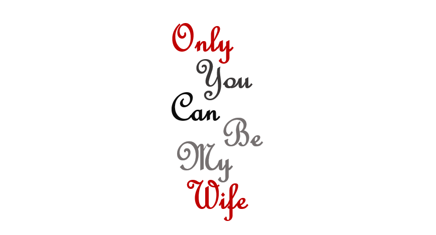 Image of Only You Can Be My Wife