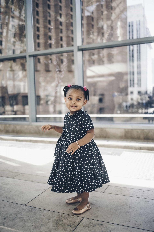pokadot toddler dress