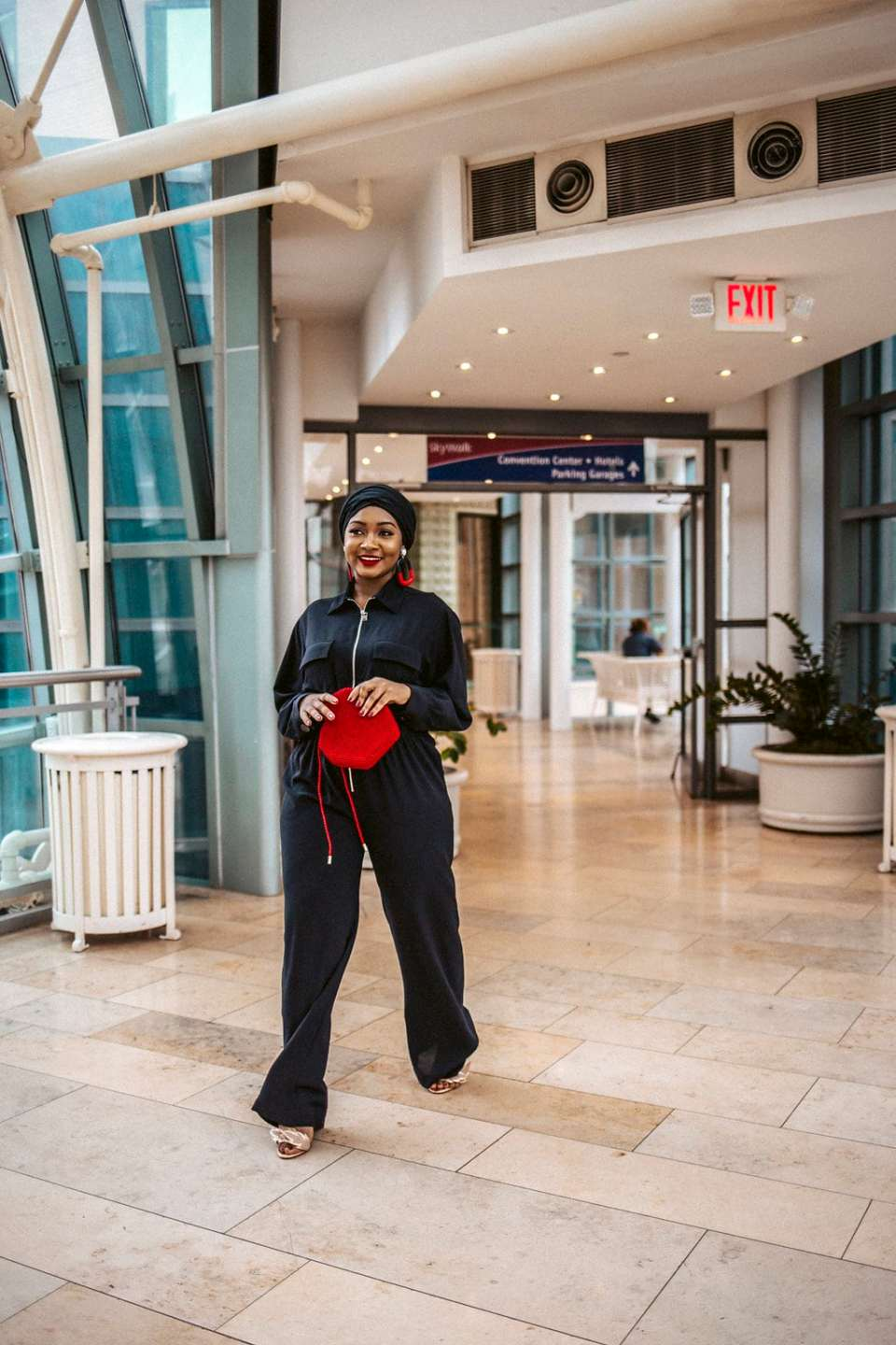 Valentines Day Outfit: A Touch of Valentine's Red by popular Indianapolis modest fashion blogger Tales & Turbans