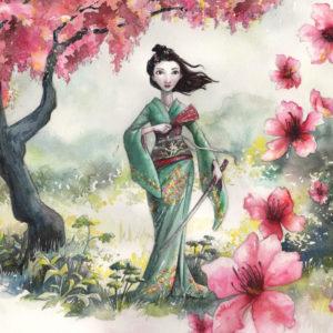 Cherry Blossom Girl art by Manelle Oliphant
