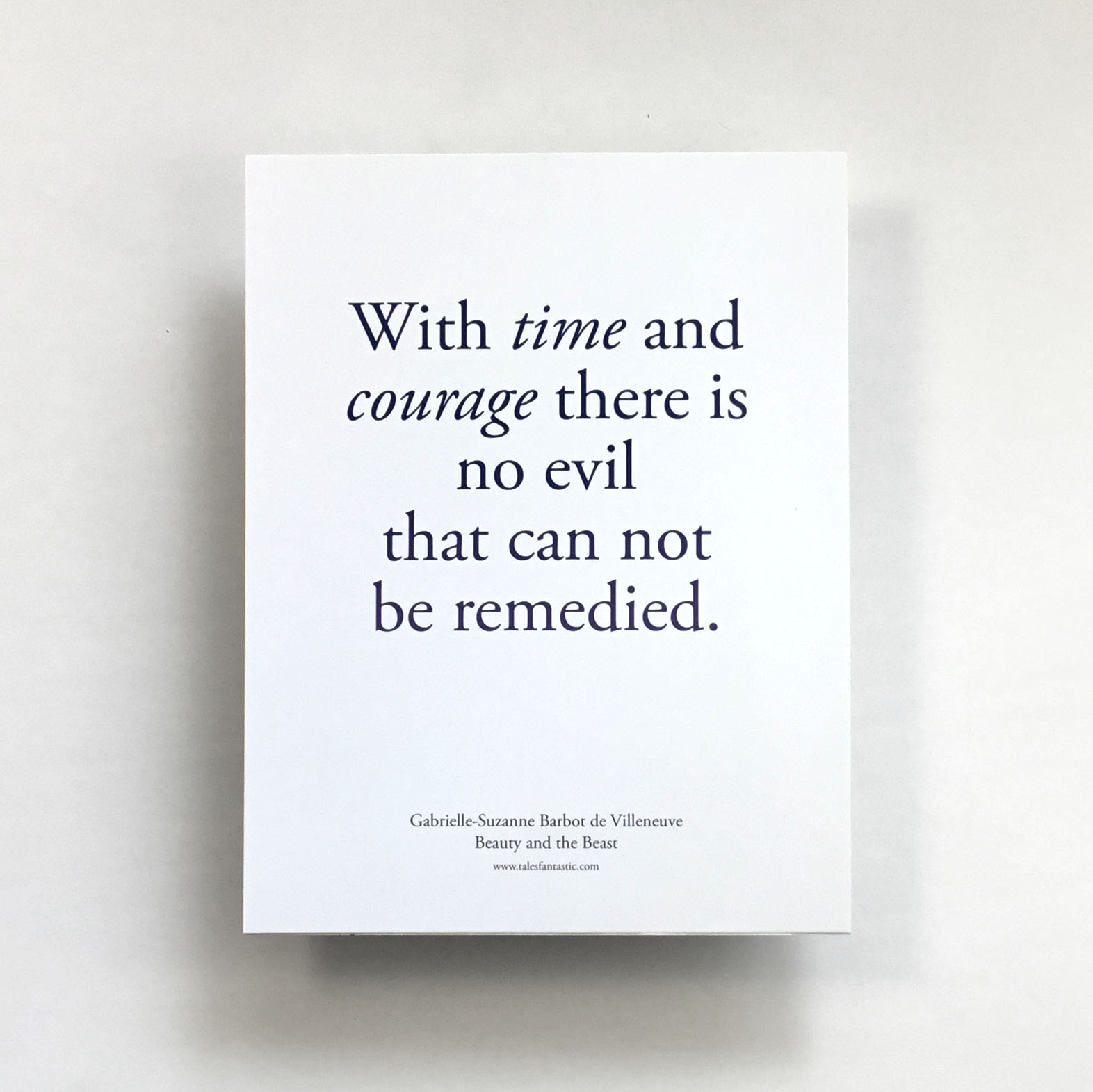 """With Time and Courage"" Quote Print"