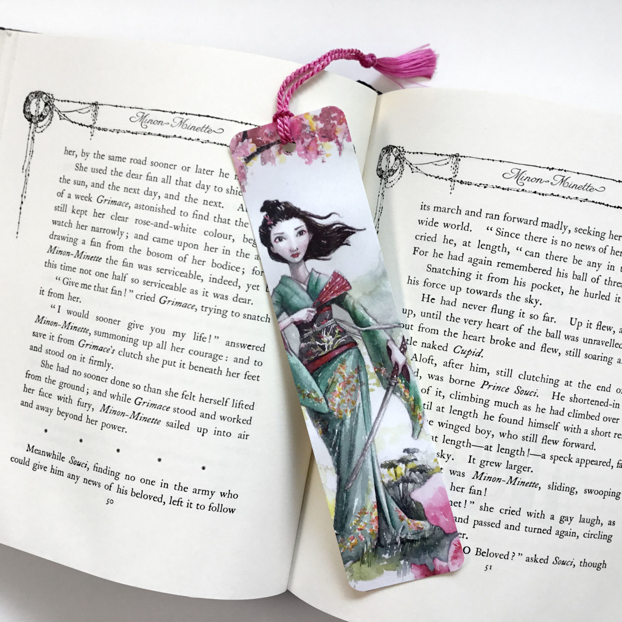 Cherry Blossom Girl Bookmark