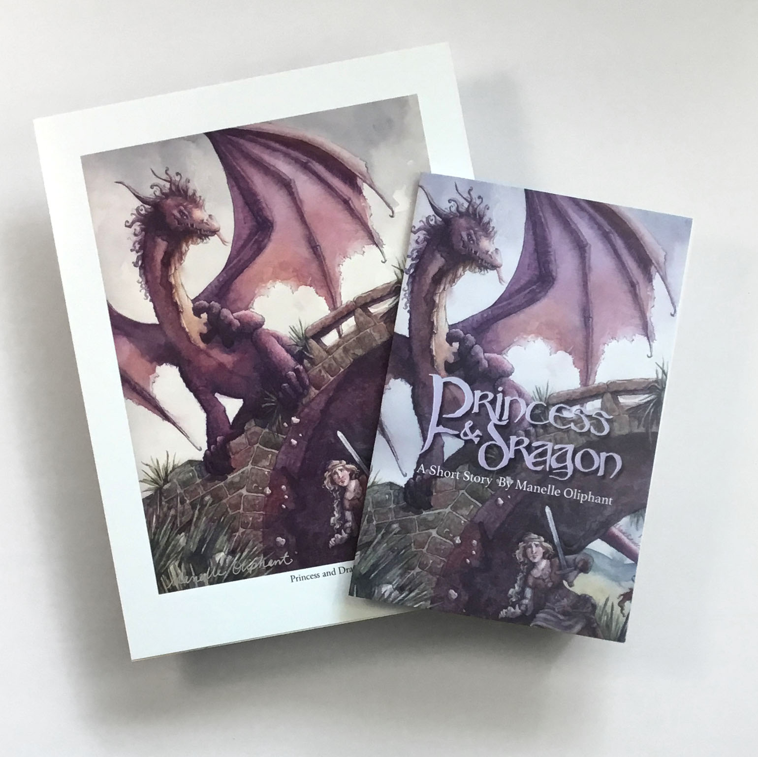Princess and Dragon Print and MiniBook