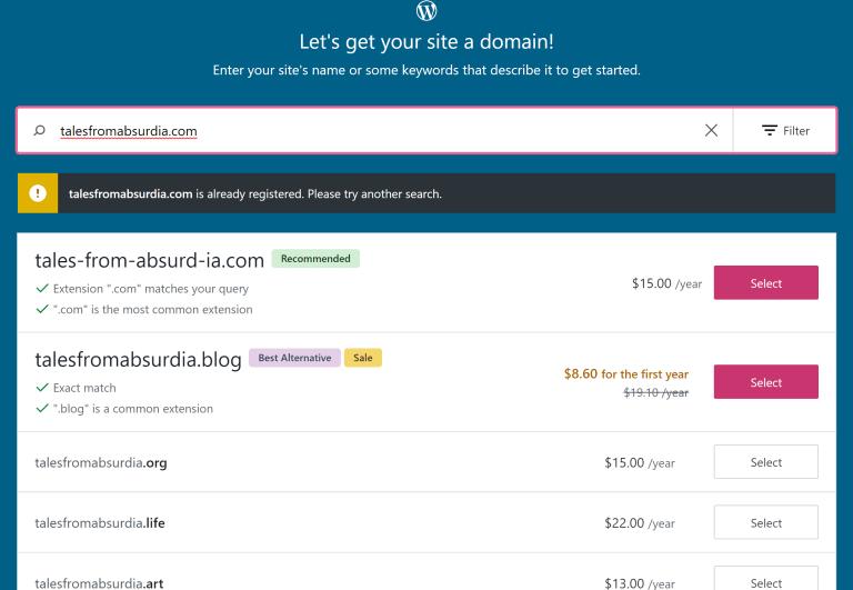 How to Pick a Blog Name Domain Taken