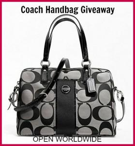 Coach Handbag  Blk grey