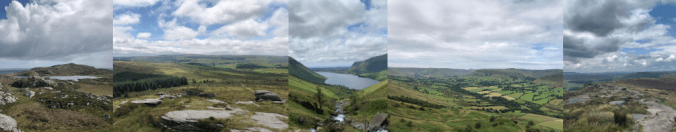 Banner images of UK landscapes from camping trips