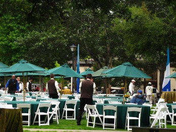 Devendorf Park is set up for lunch