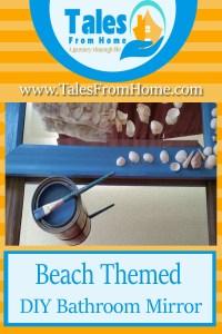 Beach themed bathroom mirror