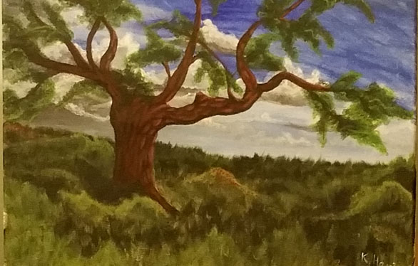 A painting of a tree, part of a post telling you to follow your dreams.