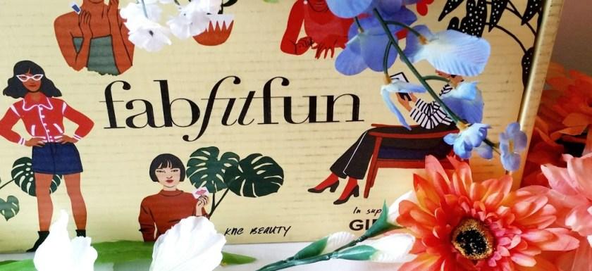 fabfitfun box surrounded by flowers