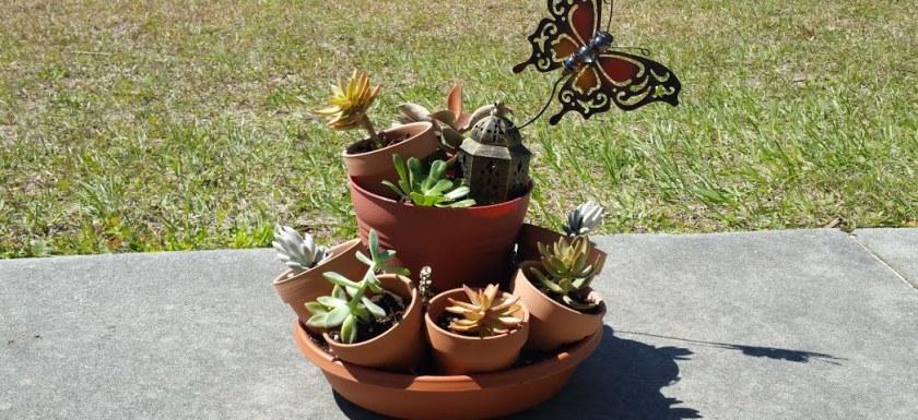 DIY Spring Planter from the Dollar Tree
