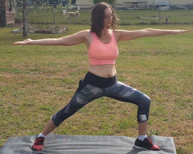 Yoga for beginners warrior 2 pose