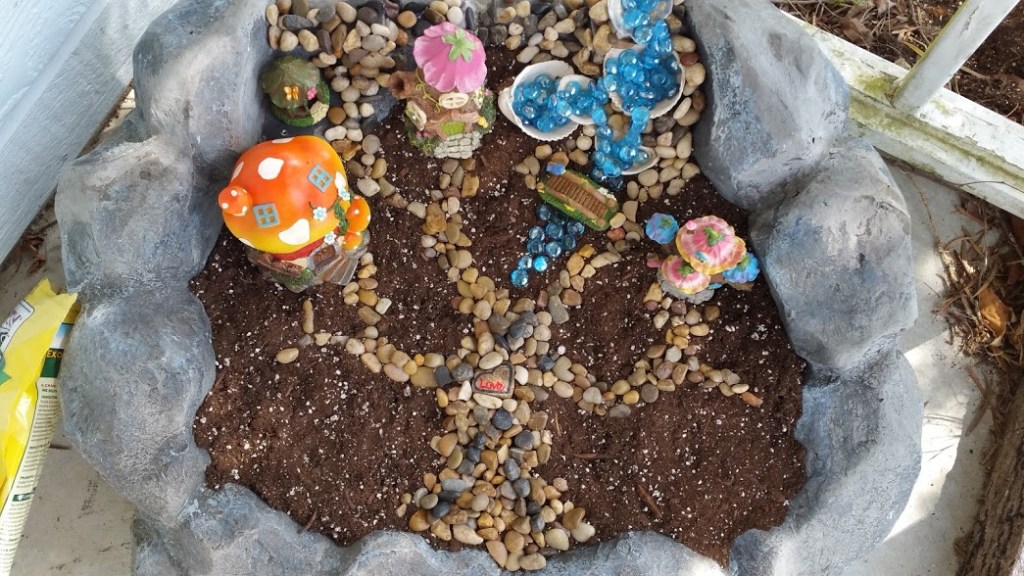 Spring Fairy Garden in progress