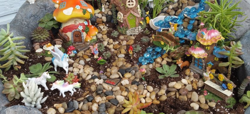 A Spring fairy garden