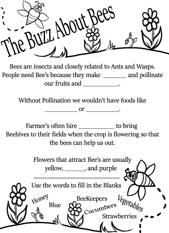 Earth Day activities for families Bee worksheet Preview